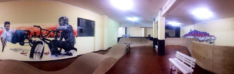 Inaugurazione  pumptrack indoor a Genova!