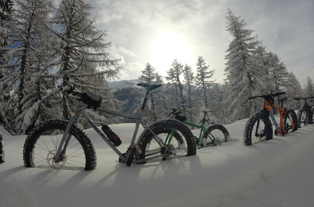 Oberwald in fat bike